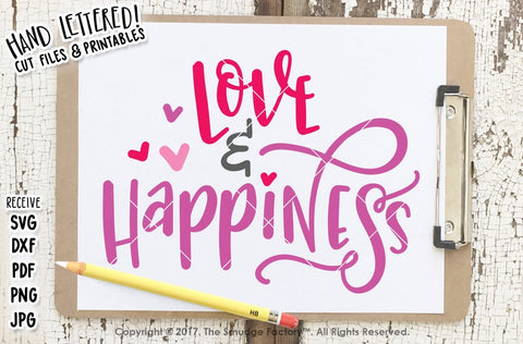 Love & Happiness SVG The Smudge Factory