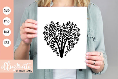 Love Heart Tree Design SVG Illuztrate