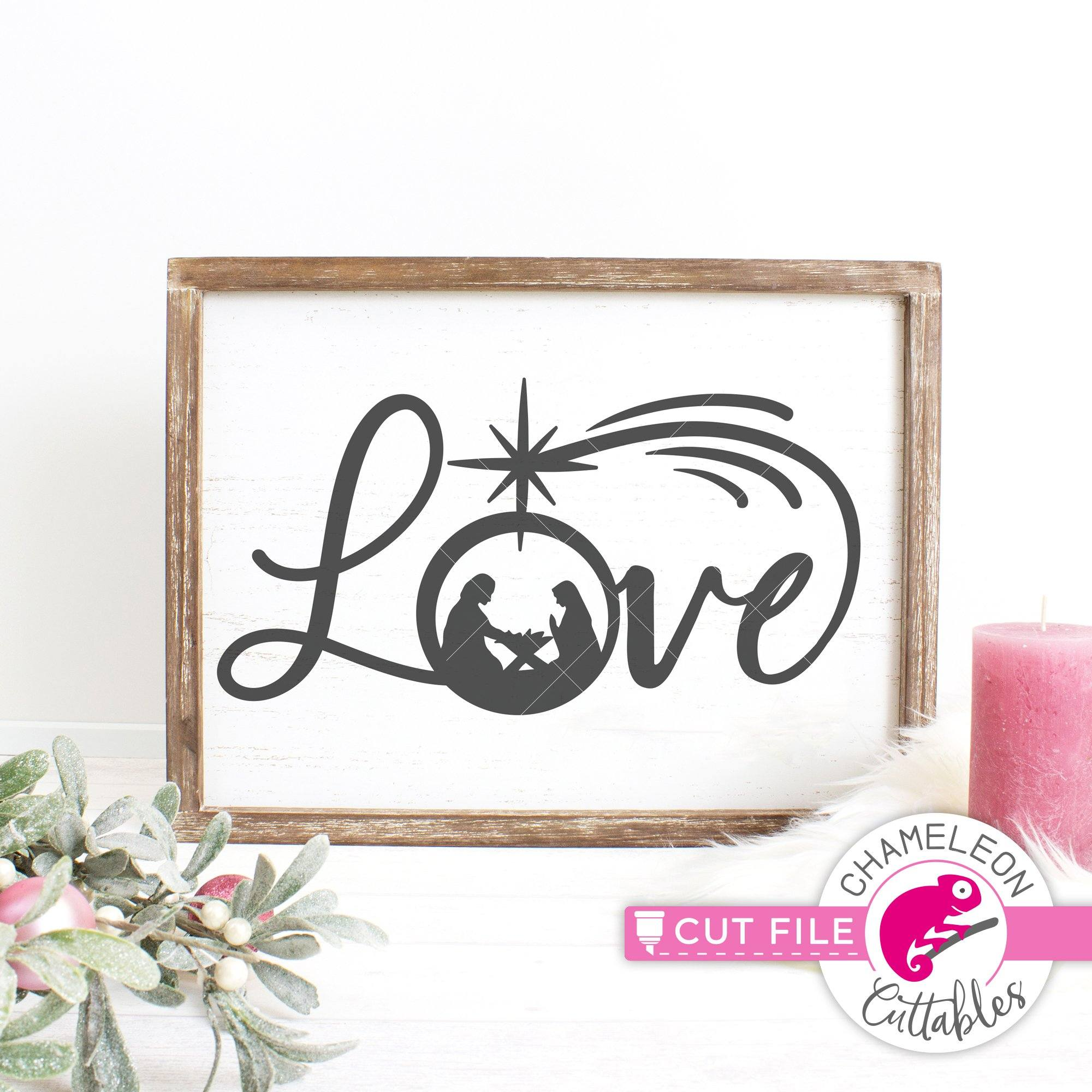 Commercial Use Digital Design Believe with nativity scene SVG eps dxf png   Files for Cutting Machines like Silhouette Cameo and Cricut