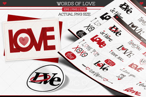 Love Words Set 1 SVG AfterTenDesign