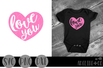 Love you heart, Valentines Day, SVG Adeline&co