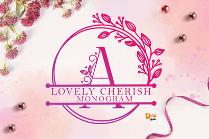 Lovely Cherish Monogram Font Dm Letter Studio