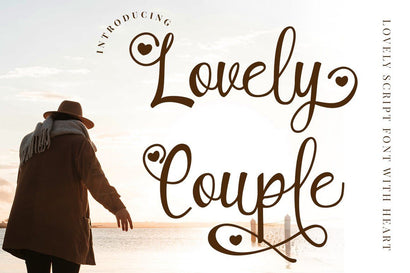 Lovely Couple - Romantic Script With Heart Font PutraCetol Studio