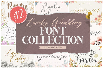 Lovely Wedding Font Collection Font Balpirick