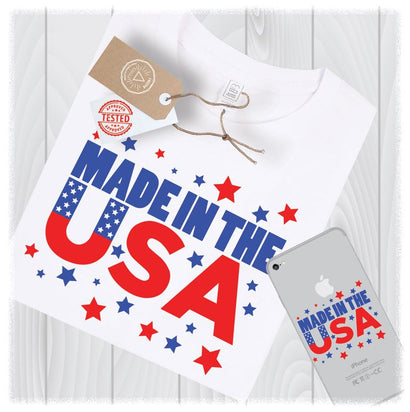 Made in the USA SVG Files America 4th of July Cutting Designs - Independence Day SVG - Memorial Day SVG - Fourth of July SVG SVG My Sew Cute Boutique
