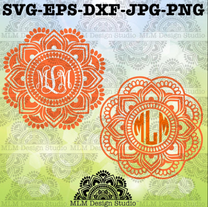 Mandala Monogram Base SVG MLM Design Studio