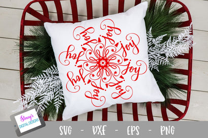 Mandala SVG - Joy Mandala SVG - Christmas SVG SVG Stacy's Digital Designs