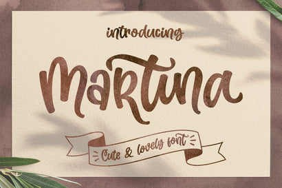Martina - Cute and Lovely Font Subectype Studio