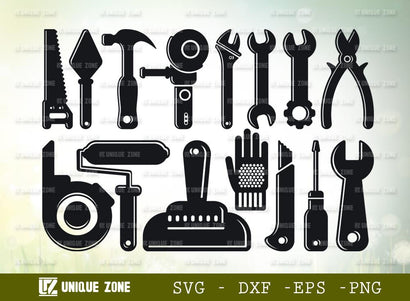 Mechanical Tools | Tools | Builder | Contractor | Repairman | Carpenter | Hand Tools | Labor Day Svg | SVG Unique Zone