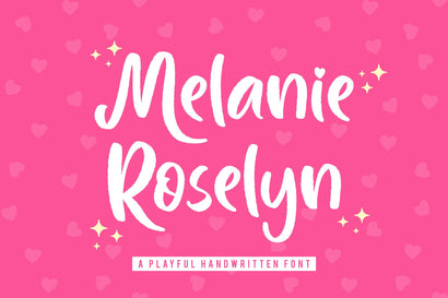 Melanie Roselyn Beautiful Script Font Font Creakokun Studio