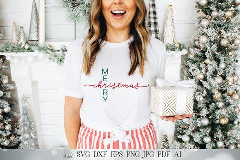 Merry CHRISTmas SVG | Winter SVG | Modern Farmhouse SVG | Printable | dxf and more | Sign svg | Shirt svg SVG Diva Watts Designs