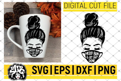Messy Bun in Face Mask svg, Halloween 2020 svg, Fall svg, Afro Hair svg, Vector, Sublimation, Silhouette,Instant download, Cricut Cut Files SVG afrosvg
