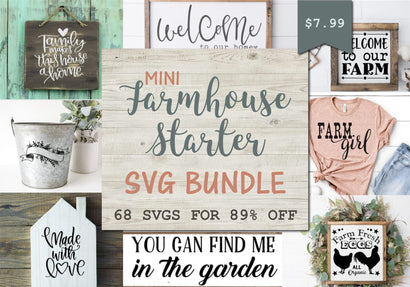 Mini Farmhouse Bundle Bundle So Fontsy Design Shop
