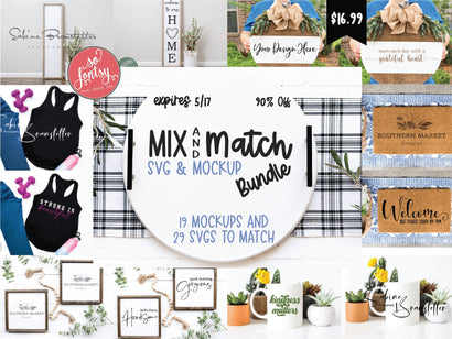 Mix and Match SVG & MockUp Bundle Bundle So Fontsy Design Shop