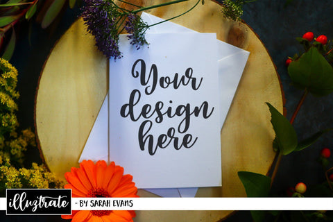 Mockup bundle - Floral stationery mockup bundle Mock Up Photo Illuztrate