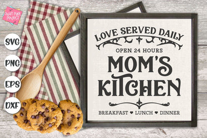 Mom's Kitchen Svg, Kitchen Sign, Potholder Svg, Kitchen Towel Svg SVG Craft Pixel Perfect