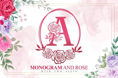 Monogram And Rose Font eknojistudio99