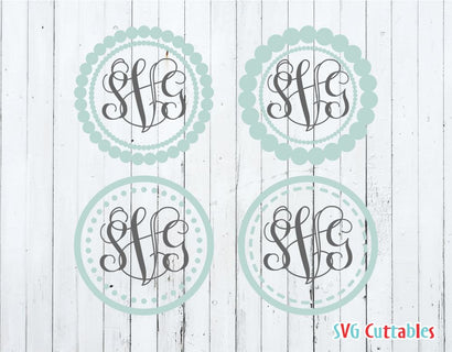 Monogram frames set of 4 SVG Svg Cuttables