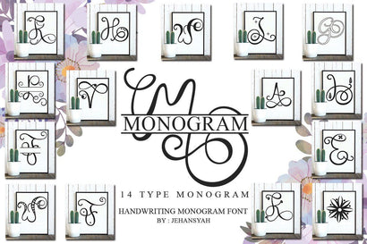 Monogram Handwriting font family Font JH-CreativeFont