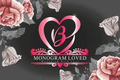 MONOGRAM LOVED Font eknojistudio99
