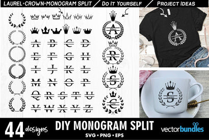 Monogram maker split text svg SVG vectorbundles