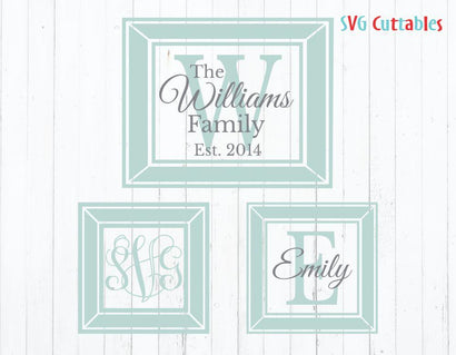 Monogram Picture Frames SVG Svg Cuttables