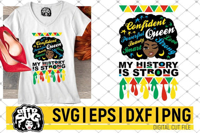 My History Is Strong SVG, Dripping, Afro SVG, African American, Black Woman SVG SVG afrosvg