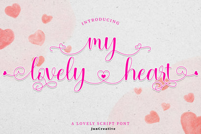 Mylovely Heart Font Jun Creative