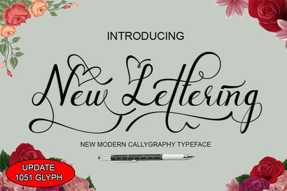 New Lettering Font arwah studio
