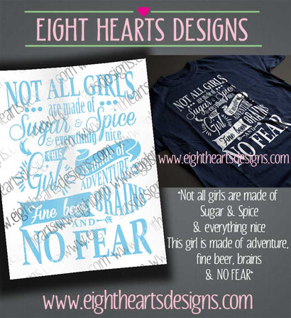 Not all Girls ... Comes with multiple variations. SVG SVG Eight Hearts Designs