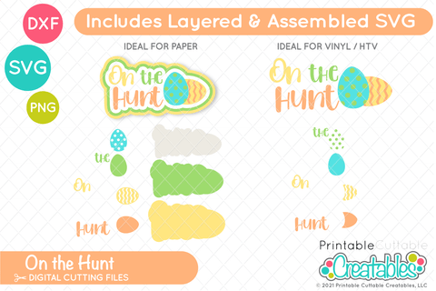 On the Hunt SVG SVG Printable Cuttable Creatables
