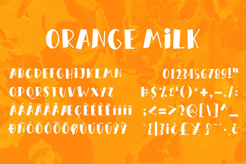 Orange Milk Font Almarkhatype Studio