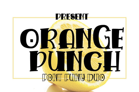Orange Punch Font JH-CreativeFont