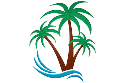 Palm Tree Embroidery/Applique DESIGNS Digital Creations Art Studio