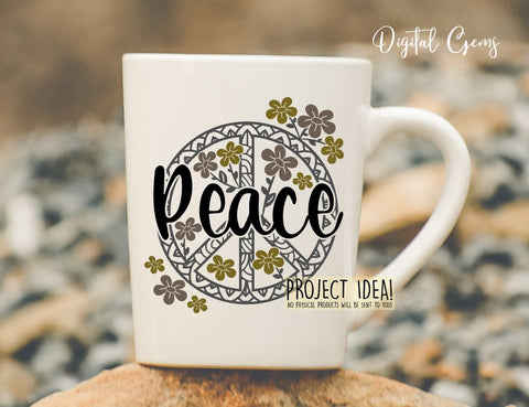 Peace design. SVG / DXF / EPS / PNG files SVG Digital Gems
