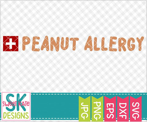 Peanut Allergy SVG Sweet Kate Designs