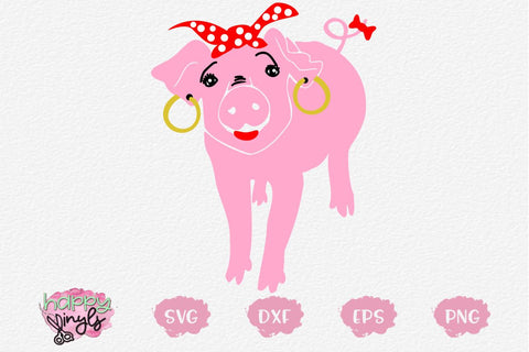 Pig Diva SVG SVG Happy Vinyls
