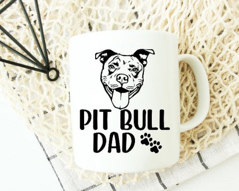 Pit Bull Svg - Pit Bull Dad SVG SVG She Shed Craft Store