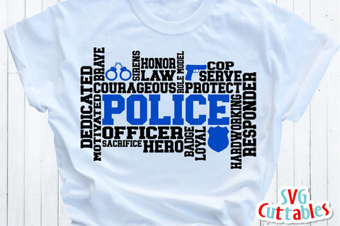 Police Word Art SVG Svg Cuttables