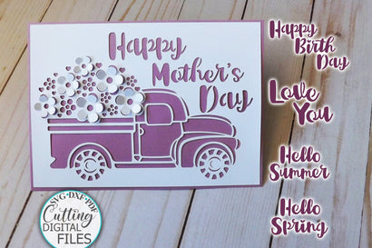 Pop up floral car svg, Birthday card svg, Mothers day card svg, love you card svg, cricut card svg, hello summer card svg, spring card svg, papercut svg SVG kartcreationii