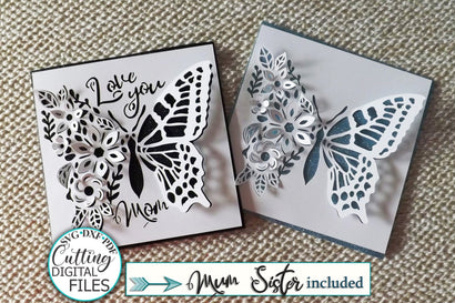 Pop up svg, butterfly card svg, Mothers day card svg, love you card svg, sister card svg, birthday card svg, cricut card svg, cut out card svg SVG kartcreationii
