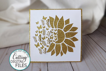 Pop up svg, sunflower butterfly svg, cricut card svg, digital svg, papercut svg, paper cutting SVG kartcreationii