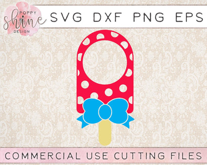Popsicle Circle Monogram Frame SVG Poppy Shine Design