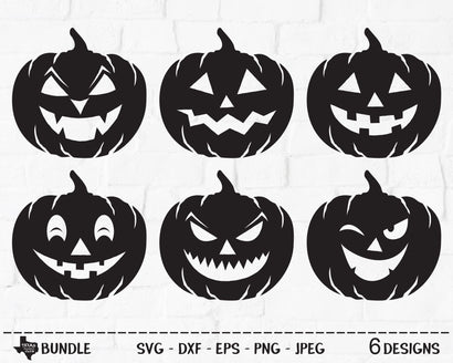 Pumpkin Face Bundle | Halloween SVG SVG Texas Southern Cuts