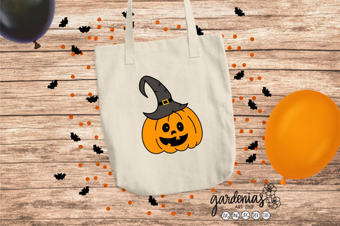Pumpkin Witch Hat SVG SVG Gardenias Art Shop