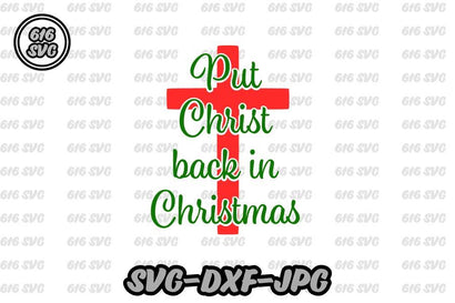 Put Christ back in Christmas 616SVG