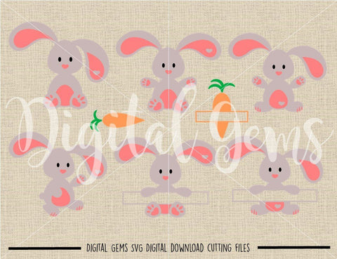 Rabbit SVG / DXF / EPS / PNG files SVG Digital Gems