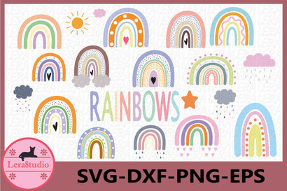 Rainbows Svg SVG Lerastudio