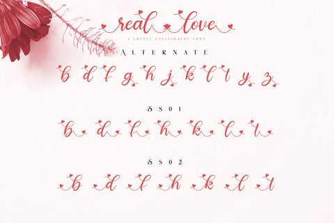 Real love // A lovely Calligraphy Font Bluestudio