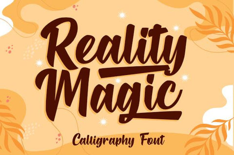 Reality Magic Font eknojistudio99